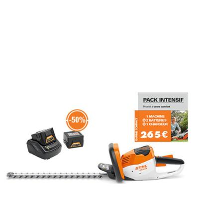 Taille-haies à batterie STIHL HSA 56 pack intensif